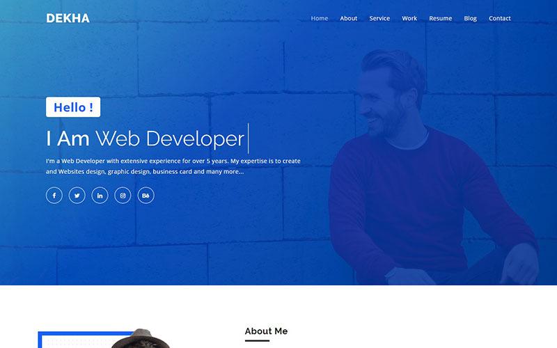 Dekha - Creative Portfolio Landing Page Template