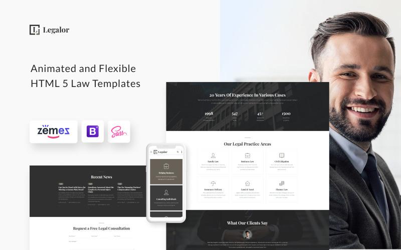 Legalor - Modèle de site Web pour le cabinet juridique pour les avocats et les avocats