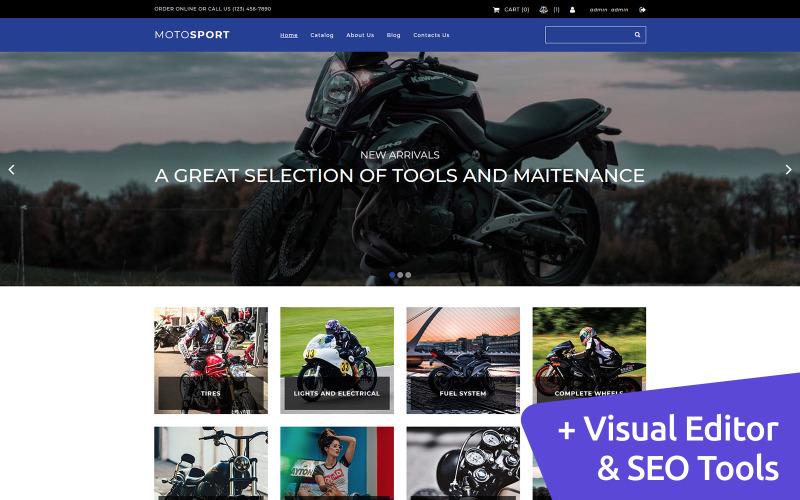 Modelo de Ecommerce Motosport MotoCMS