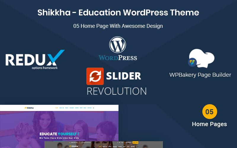 Sikkha - тема WordPress для образования и LMS