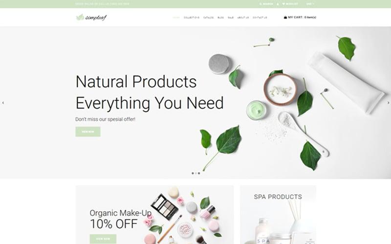 Simpleaf - Organic Cosmetics Store Shopify Theme