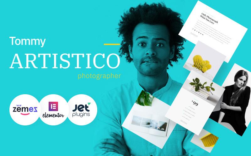 Tommy Artistico - Galeria fotografów Motyw WordPress Elementor