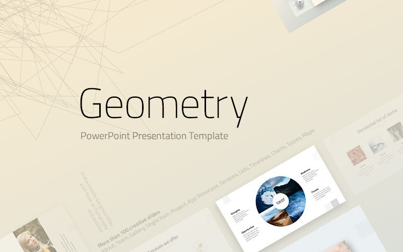 Geometry Powerpoint Template 74239