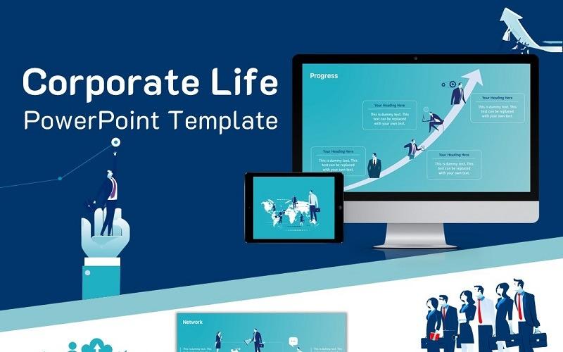 Корпоративная жизнь Шаблоны презентаций PowerPoint