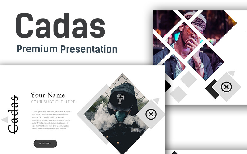 Cadas Creative Presentation PowerPoint template