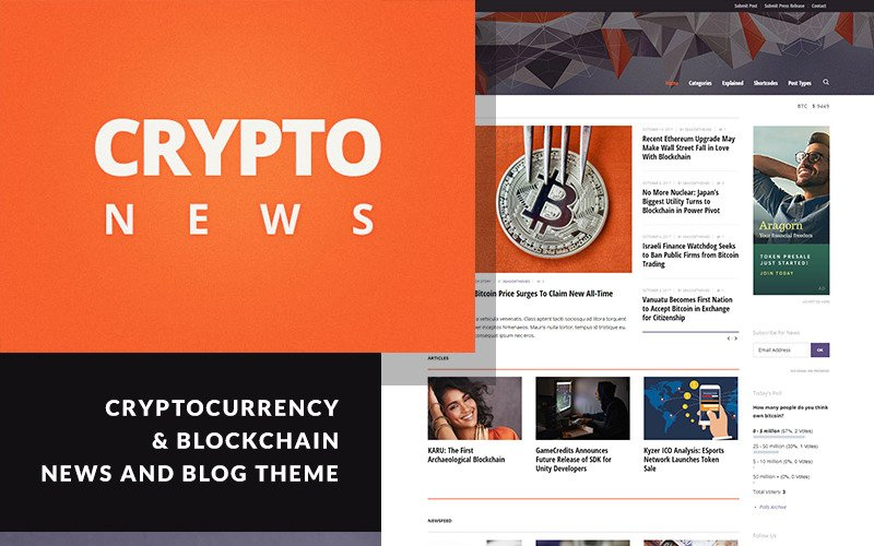 Crypto News - тема WordPress для криптовалюты и биткойнов