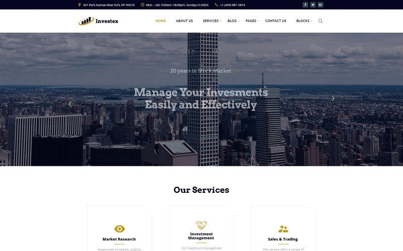 Investex - Investment Ready-to-Use Website Template