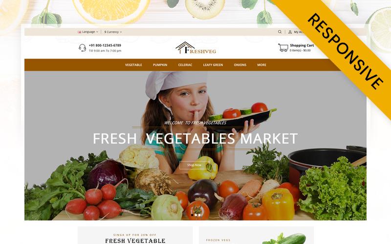 FreshVeg - szablon OpenCart sklepu warzywnego