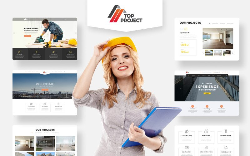 Top Project - Construction Company Multipurpose HTML Website Template