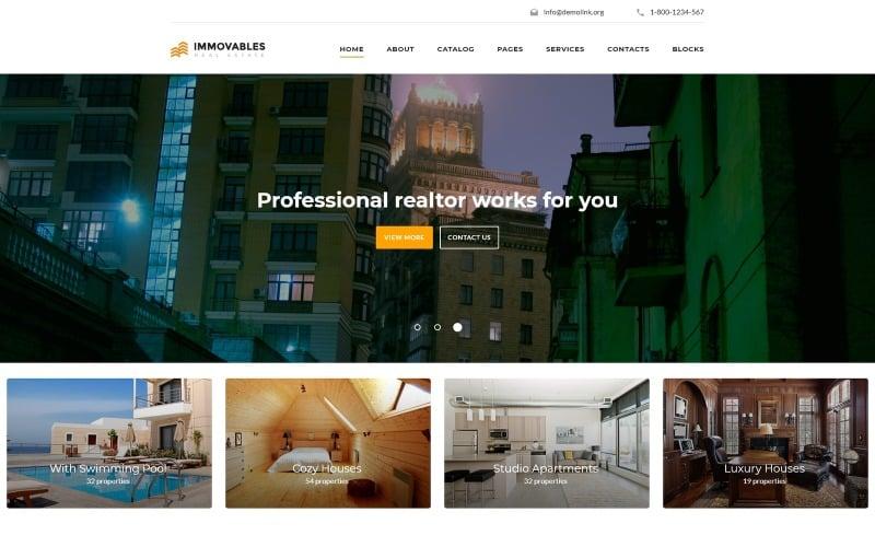 Immovables - Plantilla de sitio web de bienes raíces lista para usar