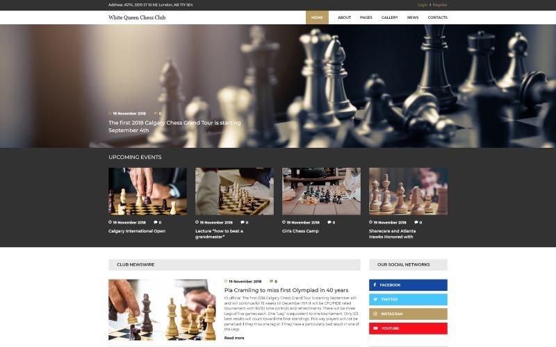 White Queen Satranç Kulübü - Satranç Joomla Şablon
