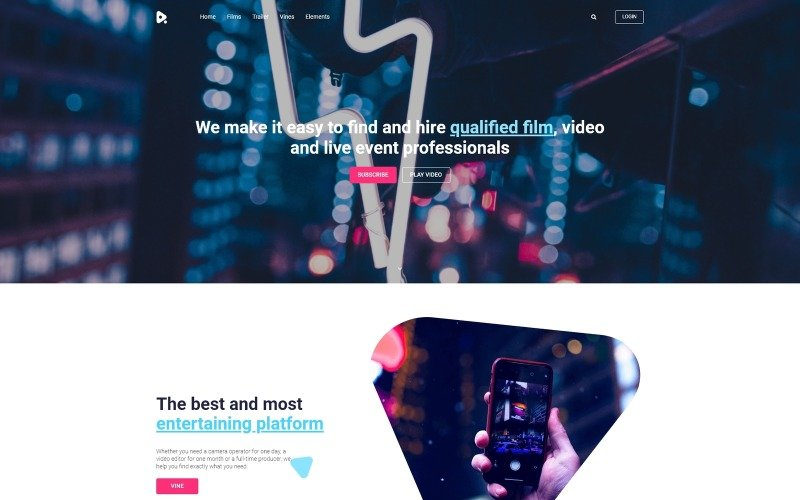 YouMovie - Videografie WordPress Elementor-thema