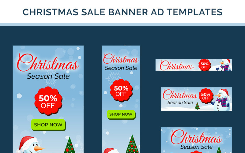Banner di vendita di Natale - 10 modelli PSD