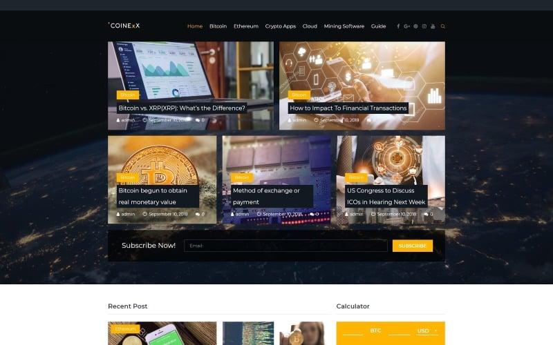 Capitex - Bitcoin Blog WordPress Elementor Theme