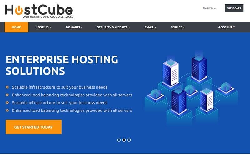 HostCube WHMCS Website Template