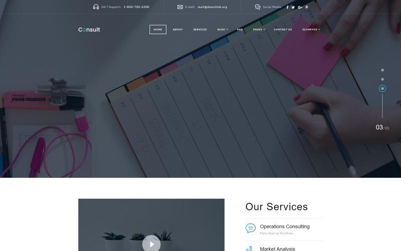Консультации - готовый корпоративный шаблон веб-сайта
