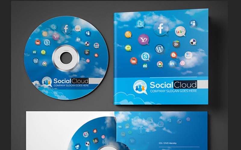 Pouzdro na CD a DVD pro sociální média | Šablona obálky PSD