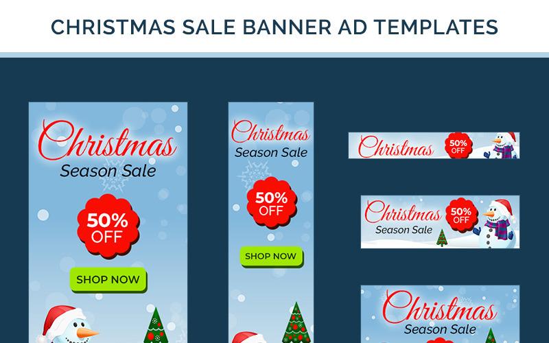 Weihnachtsverkauf Banner - 10 PSD Vorlage
