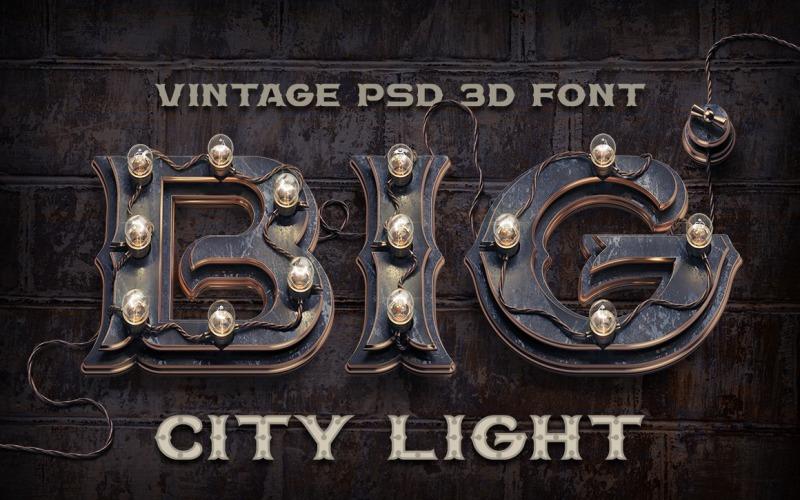 BIG City Light Font