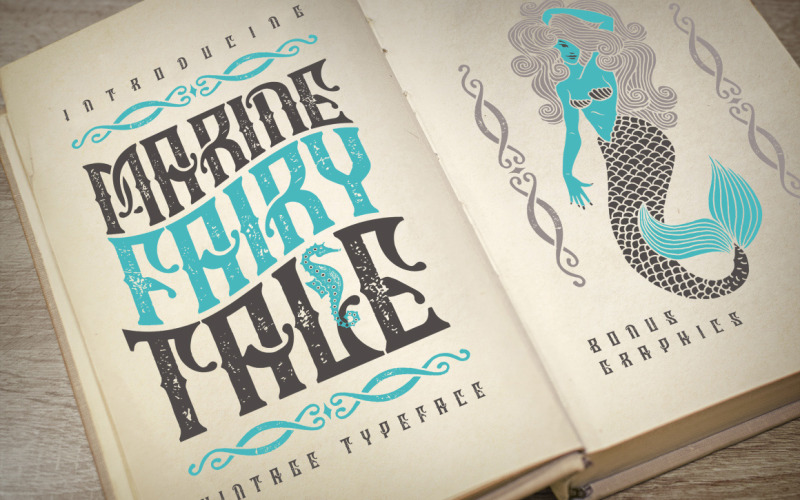Marine fairytale typeface Font