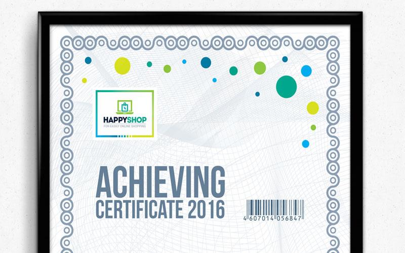 Plantilla de certificado moderno y corporativo multipropósito