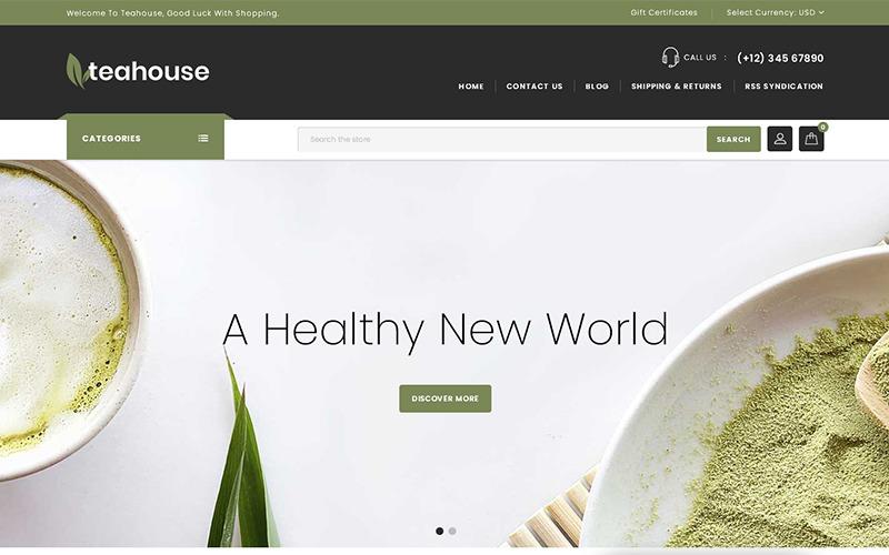 Teahouse - motyw sklepu wielofunkcyjnego BigCommerce