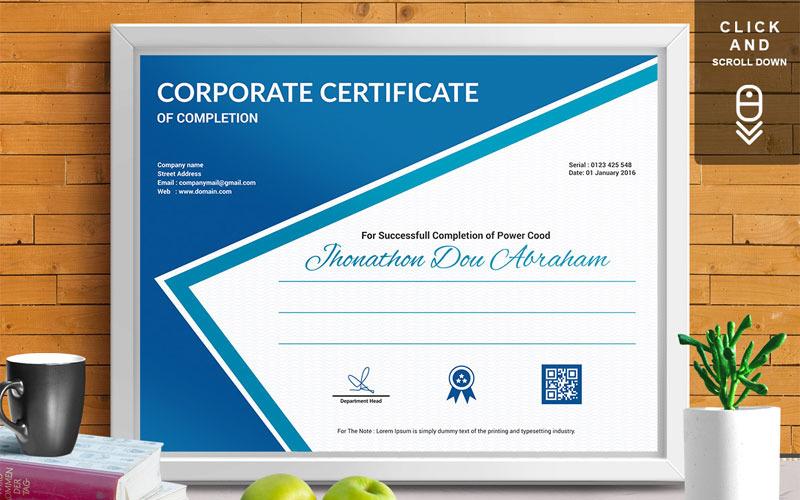 Корпоративный и современный | Vol. 07 Шаблон сертификата