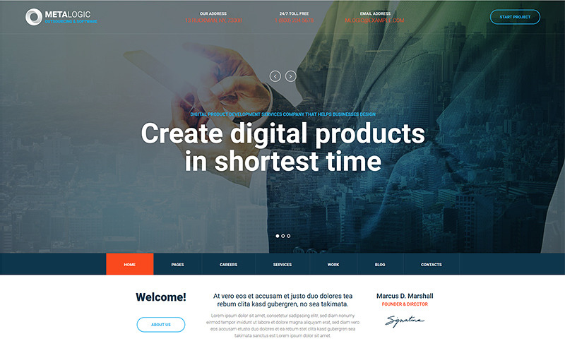 Metalogic Software Development Wordpress Theme 74828