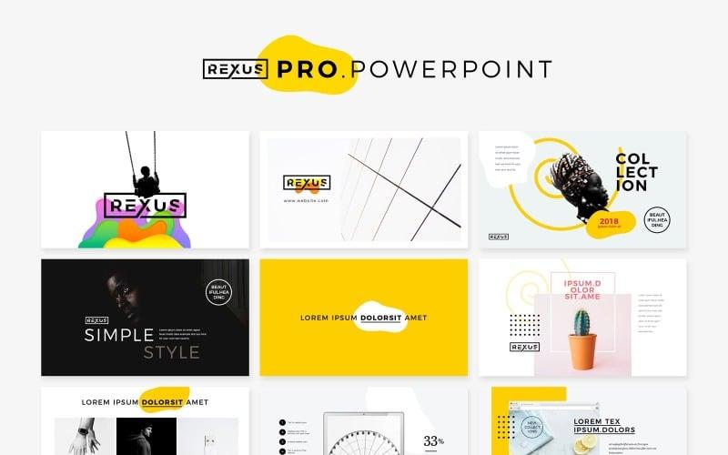 Rexus Pro Minimal & Creative PowerPoint Template