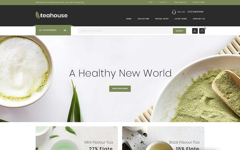 Teahouse - Multipurpose Store Magento Theme