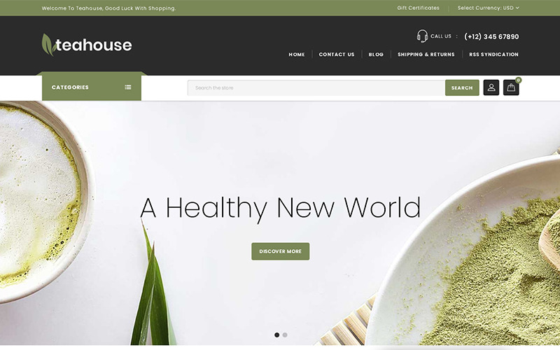 Teahouse - Tema BigCommerce per negozi multiuso
