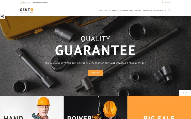 Gento - Tema Magento para diseño de tienda de herramientas manuales