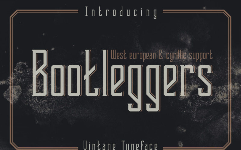 Шрифт Bootleggers