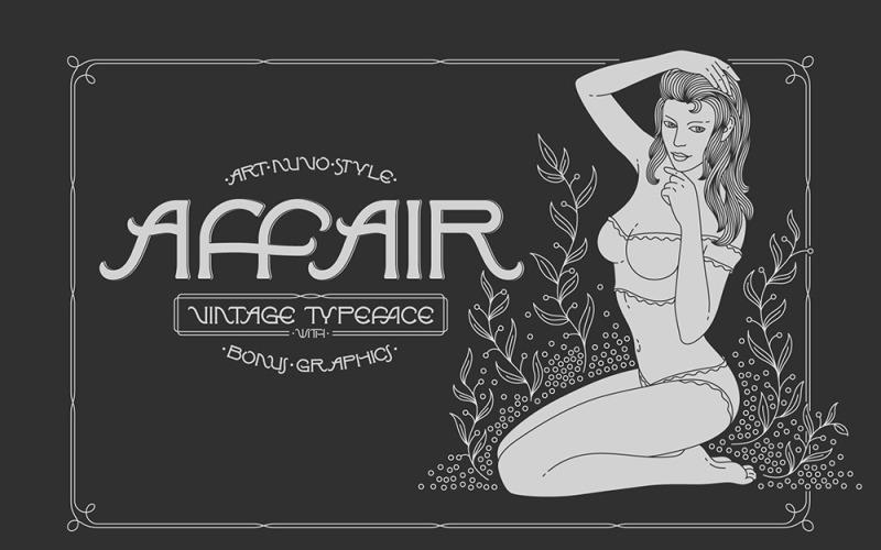 Affair Krój pisma i czcionka grafiki