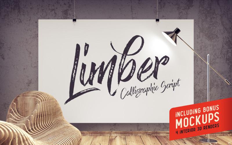 Fuente Limber Script & Mockups