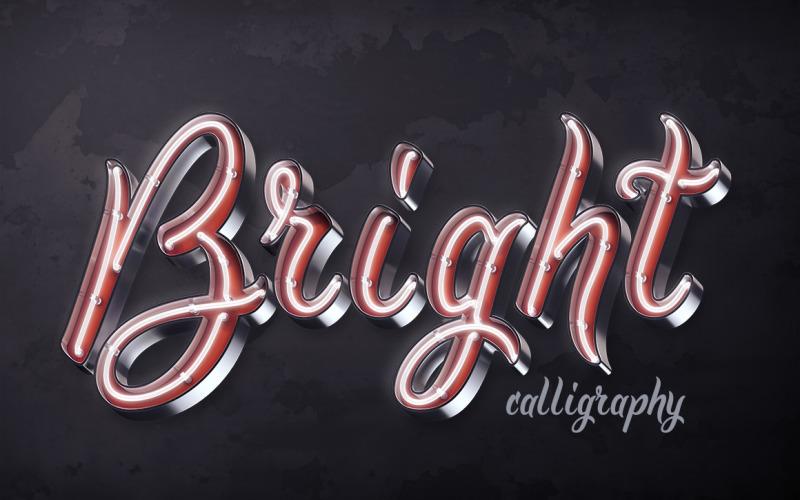 Fuente PSD Bright Calligraphy