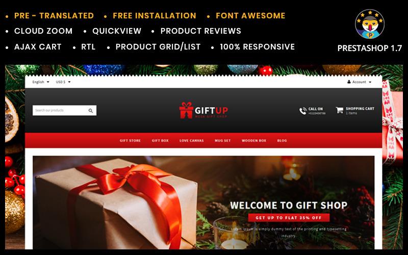 GiftUp Цветы и магазин подарков PrestaShop Theme
