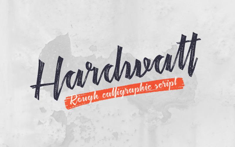 Hardwatt cursief lettertype