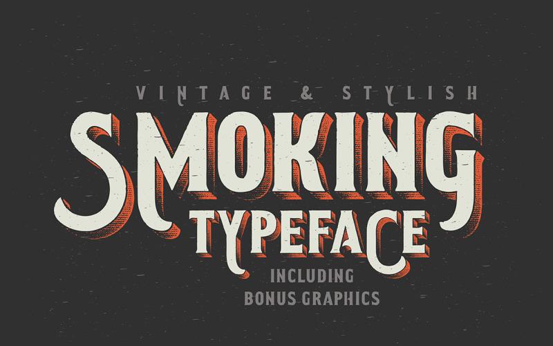 Rökning typsnitt + Illustration typsnitt
