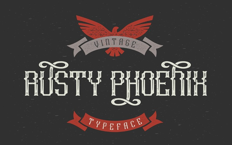 Шрифт шрифту Rusty Phoenix