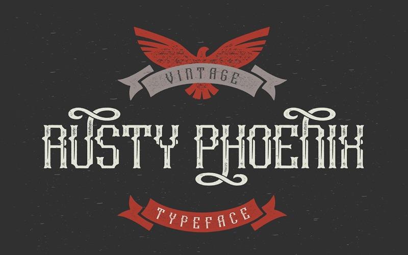 Carattere tipografico Rusty Phoenix
