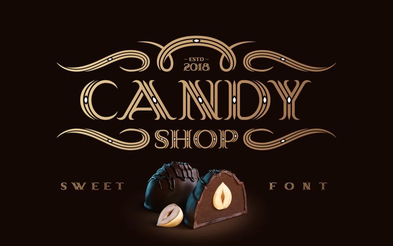 Tienda de dulces con fuente de bonificación
