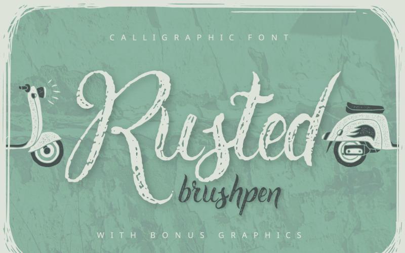 Verroeste Brushpen-script + bonuslettertype
