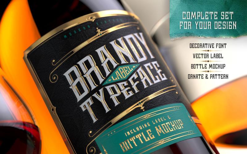 Fonte do conjunto de design de brandy
