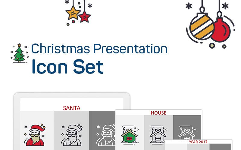 Christmas Presentation PowerPoint Icon Set