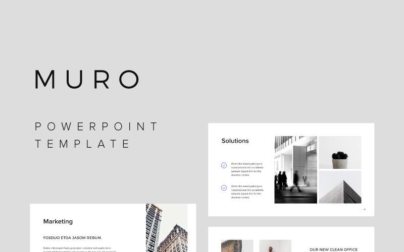 MURO - PowerPoint sablon