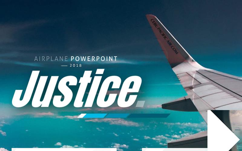 Sprawiedliwość - szablon PowerPoint Samolot