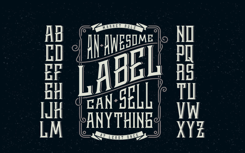 威士忌标签+设计元素字体