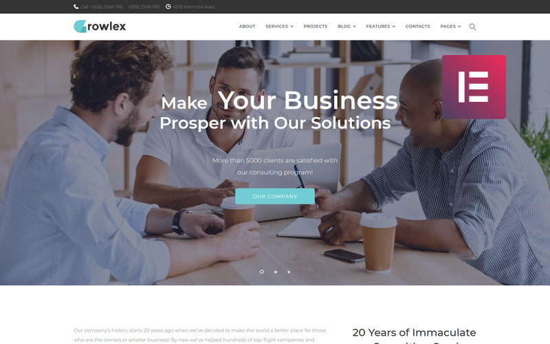 Glowlex - Consulting Services Multipurpose Clean WordPress Elementor Theme