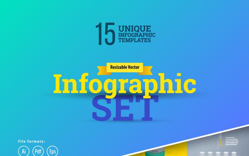 3D бізнес Інфографіка Set-01 елементів